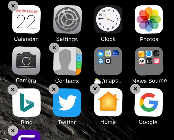 Delete unused mobile apps