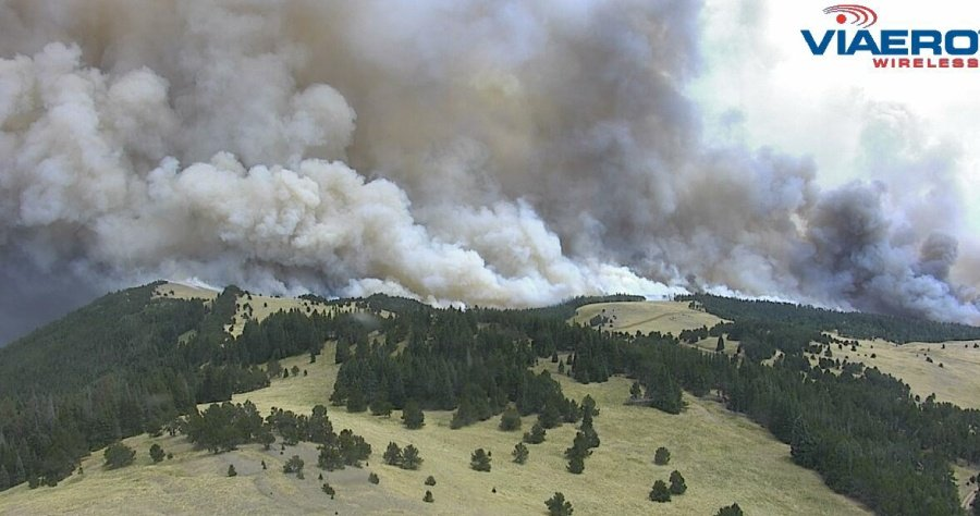 Spring Fire captured by Viaero Wx cam